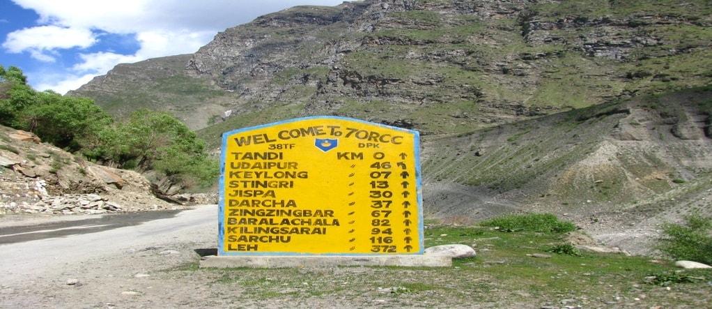 Leh and Ladakh route