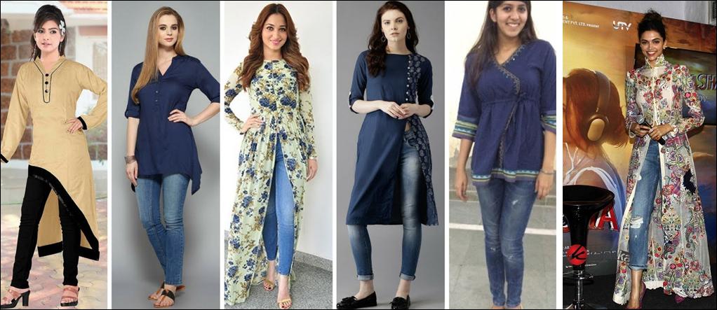 jeans and long kurta