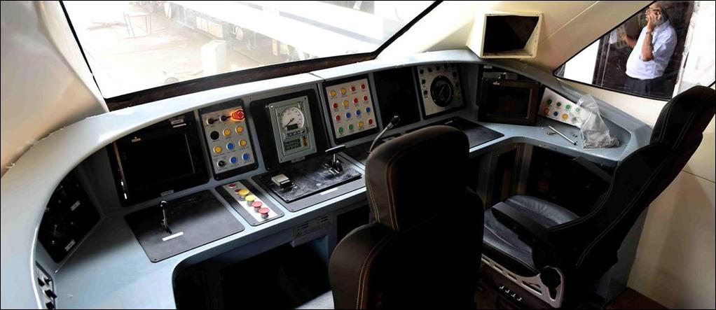 Cockpit of Engineless Train